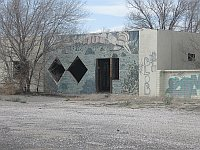 USA - Thoreau NM - Abandoned Trading Post with NM Murals (24 Apr 2009)